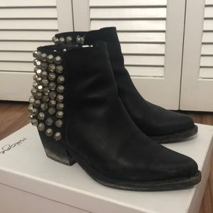 Jeffrey Campbell frontier studded leather boots